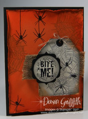 Bite Me spider card Dawn Griffith