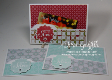 Note cards and envelopes gift card holder