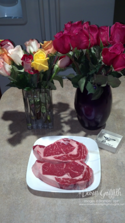 Steak flowers & charms  for Birthday