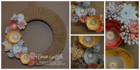 Burlap & Blooms Wreath Kit # 133333