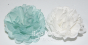 Soft Sky Creped Filter paper flower