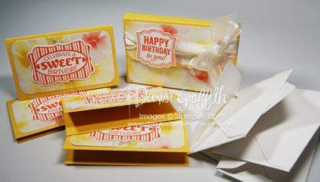 Happy Birthday box with  4 note cards and  4 envelopes