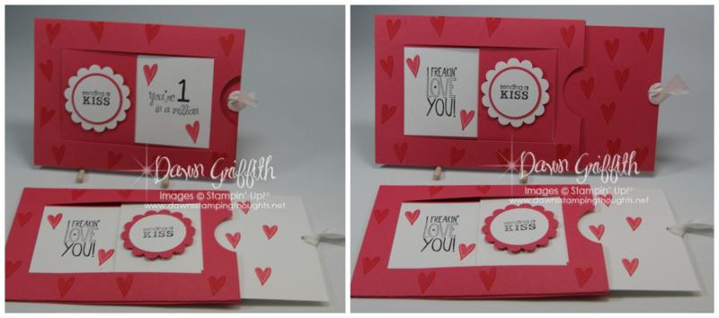 Window Slider Valentines day cards