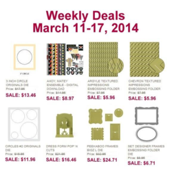 Weekly Deals Until March 17, 2014