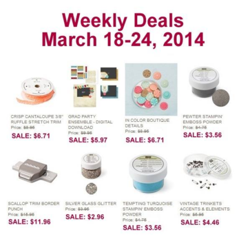 Weely Deals until 3-24-2014