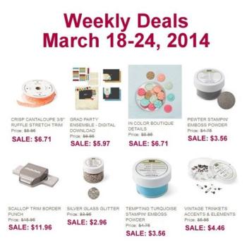 Weely Deals until 3-24-2014