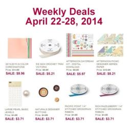 Weekly Deals until April 28, 2014