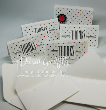 Thanks Note cards and envelopes
