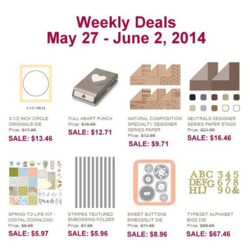 Weekly Deals until June 2,2014