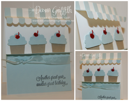 Awning Cupcake bakery card