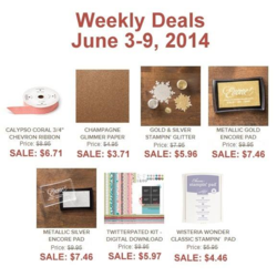 Weekly Deals until June 9, 2014