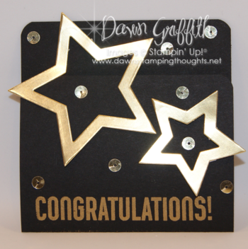 Congratulations gift card front