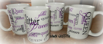 Glitter Queen Coffee Cups pillow gift