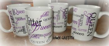 Glitter Queen Coffee Cups pillow gift