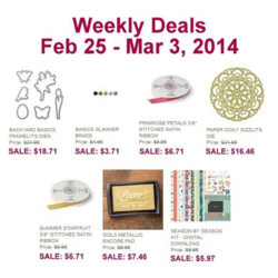 Weekly Deals March 3,2014