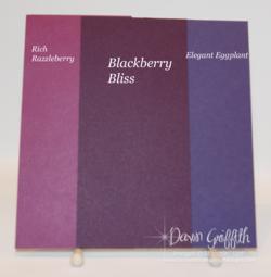 Blackberry Bliss color comparisons