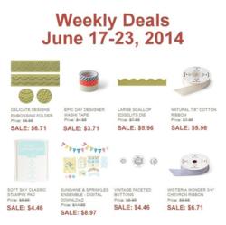 Weekly Deals until June 23, 2014