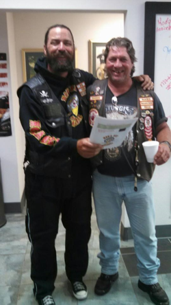 1st Check point in Oklahoma  at Wind River Harley Davidson  with Blackie