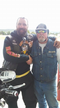 Rding in the back roads in SD July 23 2014 ran into Mark Hodge