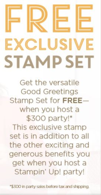 FREE Good greetings stamp set  info