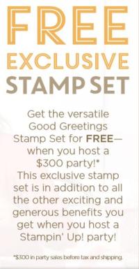 FREE Good greetings stamp set  info