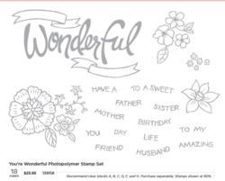You're Wonderful Photopolymer stamp set # 139158
