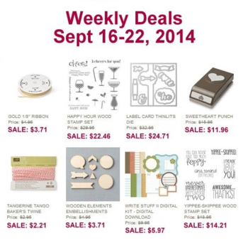 Weekly Deals  Until Sept 22, 2014