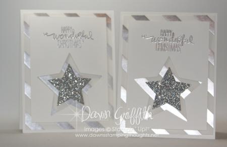 Fancy Vellum Christmas Star cards