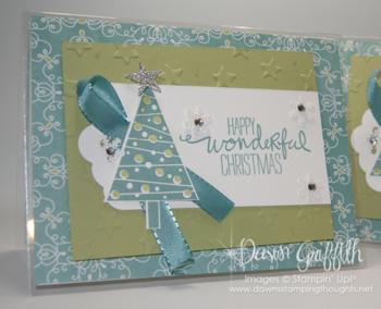 Window Sheet Christmas card upclose