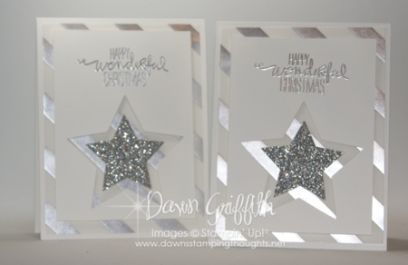 Fancy Vellum Christmas Star cards