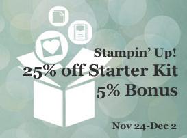 25% off starter kit