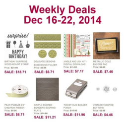 Weekly deals ending  Dec 22, 2014