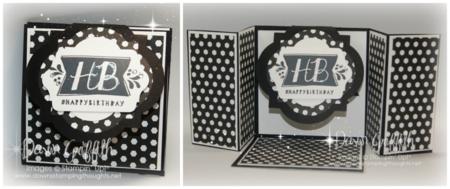 Label Flap Triple Fold  Birthday card #1