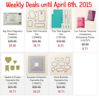 Weekly Deals Until April 6, 2015