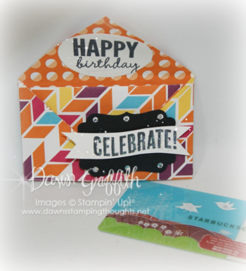 Celebrate gift card holder # 1 Dawn Griffith