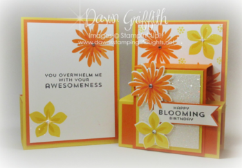 Blooming Birthday Hawaiian Blog Hop  step panel card Dawn Griffith 2