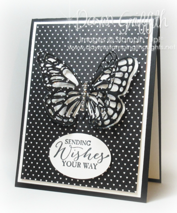 Sending wishes your way Butterfly card #1