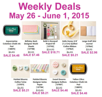 Weekly Deals until June 1 2015