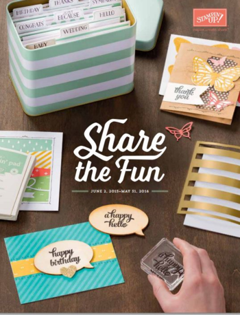 New 2015 2016 Stampin up annual catalog