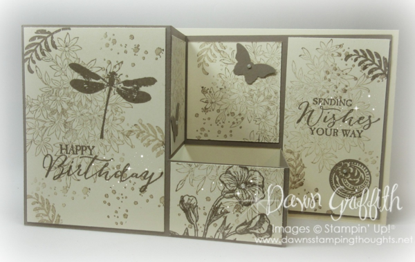 Dawns Stamping Studio Pull Out Fun Fold Card Video