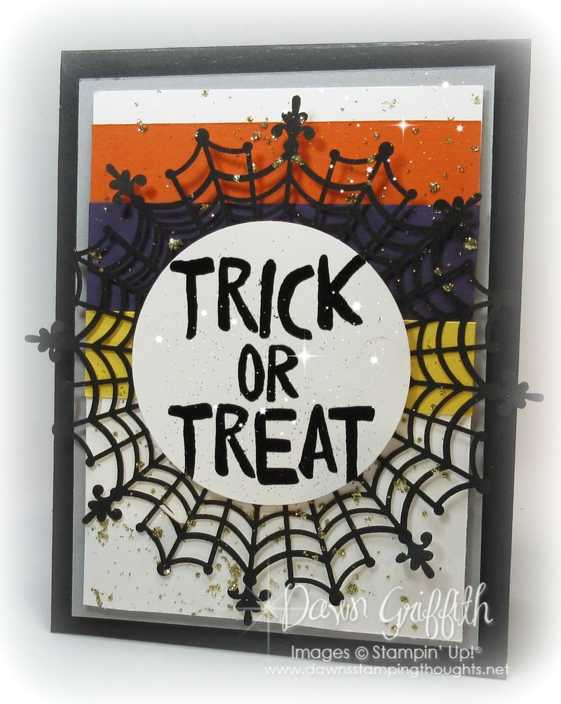 #1 Trick or Treat with  the Spider Web doilies
