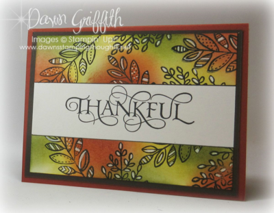 Thankful Card Masking Technique by Dawn Griffith