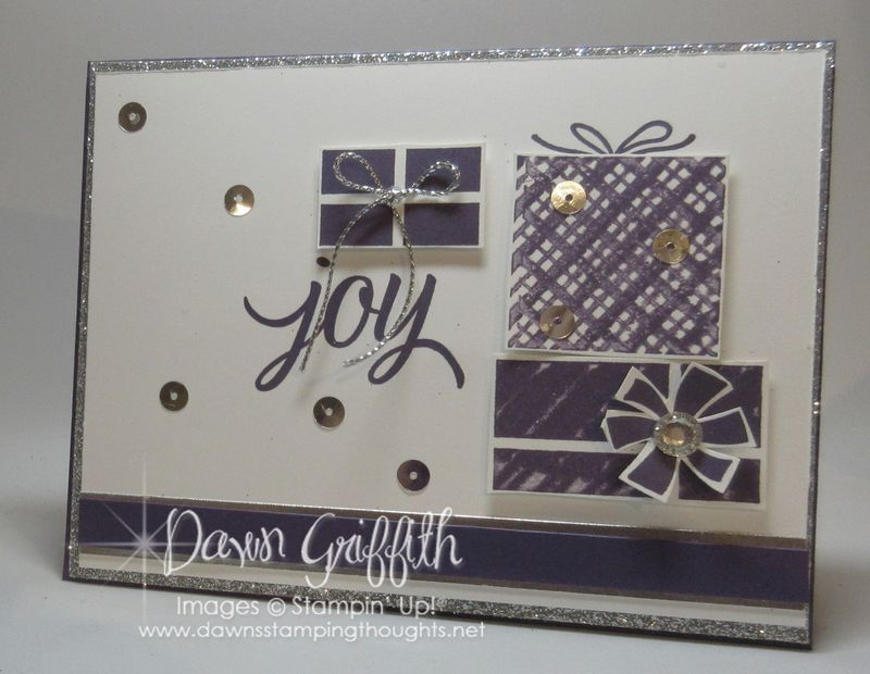 Joy card  Kissing Technique  Stampin'Up! Dawn Griffith