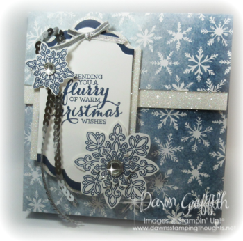 Stampin'Up! Flurry of Christmas Wishes card  box Dawn Griffith