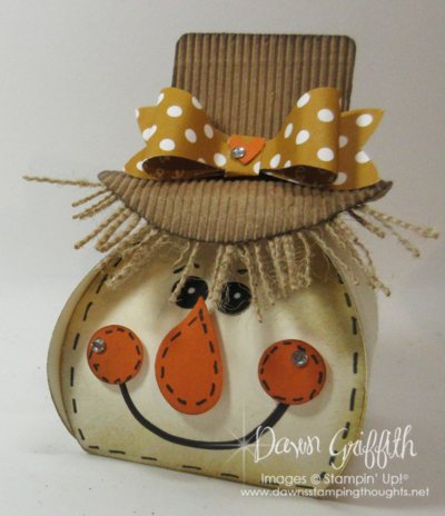 Scarecrow Curvy Keepsake Box Thinlits Dawn Griffith Stampin'Up!