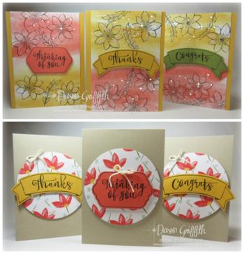 Nov 2015  Hostess cards Paper pumpkin Dawn Griffith
