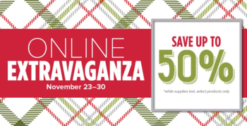Online Extravanganza save up to 50%