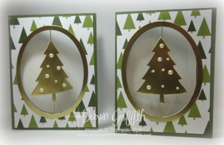 #1 Floating Christmas cards by Dawn Griffith Stampin'Up!