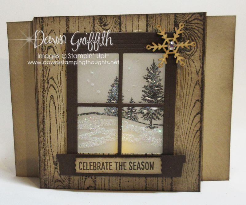 Celebrate the Season Luminary Shadow Box card  Dawn Griffith Stampin'Up!