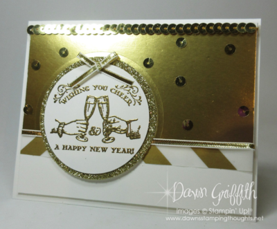 Count down Happy New Year hour 2 Dawn Griffith Stampin up!